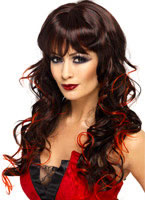 Adult Black & Red Vixen Wig