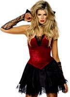Vixen Vamp Costume Red And Black [30923]