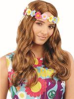 Wavy Floral Hippie Wig