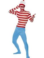 Adult Where's Wally Second Skin Costume [24243]
