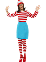 Adult Where's Wally Wenda Female Costume [39504]