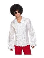 White 60s Ruffled Shirt [62013]