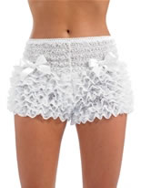 Adult Burlesque White Bustle Pants [FS3124]