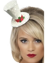 White Christmas Top Hat [22046]