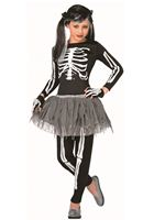 Child White Skeleton Costume