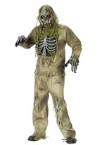 Adult Zombie Skeleton Costume