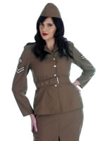 1940's World War 2 Army Girl