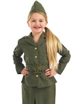 WW2 Army Girl Childrens Costume [FS2969]