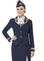 Air Hostess Fancy Dress Costume Outfit Flight Attendant Costume