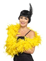 Yellow Deluxe Feather Boa