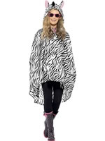 Zebra Party Poncho Festival Costume
