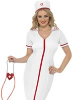 Adult Zip Up Nurse Costume