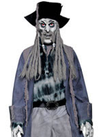 Adult Zombie Alley Ghost Pirate Costume [34118]