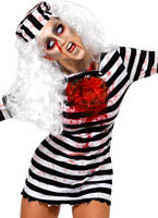 Zombie Convict Ladies Costume