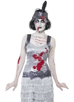 Adult Zombie Flapper Dress Costume [23213]