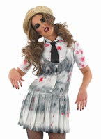 Adult Zombie School Girl Costume