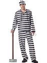 Adult Deluxe Jailbird Prisoner Costume Thumbnail