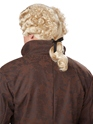 18th Century Blonde Peruke Wig  - Back View - Thumbnail