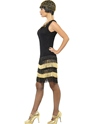 Adult 1920's Fringed Flapper Costume  - Back View - Thumbnail