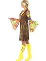 Adult 1960's Groovy Lady Costume  - Back View - Thumbnail