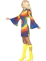 Adult 1960s Ladies Tie Dye Costume  - Back View - Thumbnail