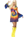 Adult 1960s Ladies Tie Dye Costume Thumbnail