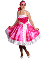 50s Rock n Roll Pink Dress