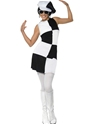 Adult 60's Black and White Party Costume Thumbnail