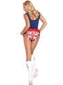 Adult 60's Cheeky Brit Costume  - Back View - Thumbnail