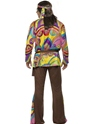 Adult 60's Psychedelic Hippy Costume  - Side View - Thumbnail