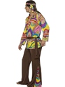 Adult 60's Psychedelic Hippy Costume  - Back View - Thumbnail