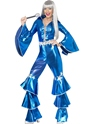 70's Dancing Queen Jumpsuit Blue