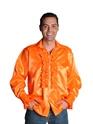 Adult 70's Mens Orange Satin Shirt Thumbnail