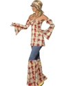 Adult 70's Vintage Hippy Costume  - Back View - Thumbnail
