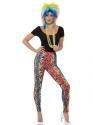 80s Neon Leopard Print Leggings Thumbnail