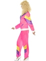 Adult 80's Height of Fashion Shell Suit Costume  - Back View - Thumbnail