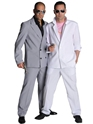 Deluxe Miami Vice 'Rico Tubbs' Grey Suit  - Back View - Thumbnail