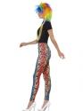 80s Neon Leopard Print Leggings  - Back View - Thumbnail