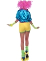 80's Neon Skater Girl Costume  - Side View - Thumbnail