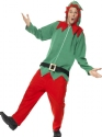 Adult Elf Onesie Costume Thumbnail