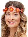 Adult Hawaiian Hippie Daisy Chain Headband  - Back View - Thumbnail