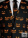 Adult Black Jack-O-Lantern Oppo Suit  - Back View - Thumbnail