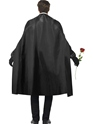 Adult Dark Opera Masquerade Costume  - Side View - Thumbnail