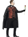 Adult Dark Opera Masquerade Costume  - Back View - Thumbnail