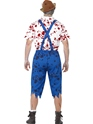 Adult Zombie Bavarian Male Costume  - Side View - Thumbnail