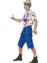 Adult Zombie Bavarian Male Costume  - Back View - Thumbnail