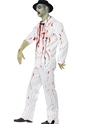 Adult White Zombie Gangster Costume  - Back View - Thumbnail
