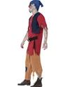 Adult Zombie Dwarf Costume  - Back View - Thumbnail
