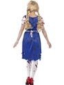 Adult Zombie Bavarian Female Costume  - Side View - Thumbnail