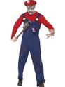 Adult Zombie Mario Plumber Costume Thumbnail